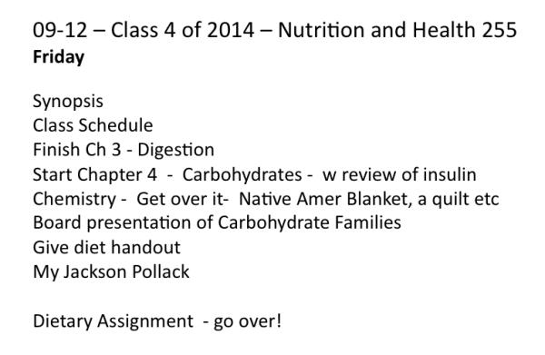 Class 4 Outline