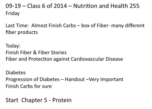 Class 6 Outline 2014