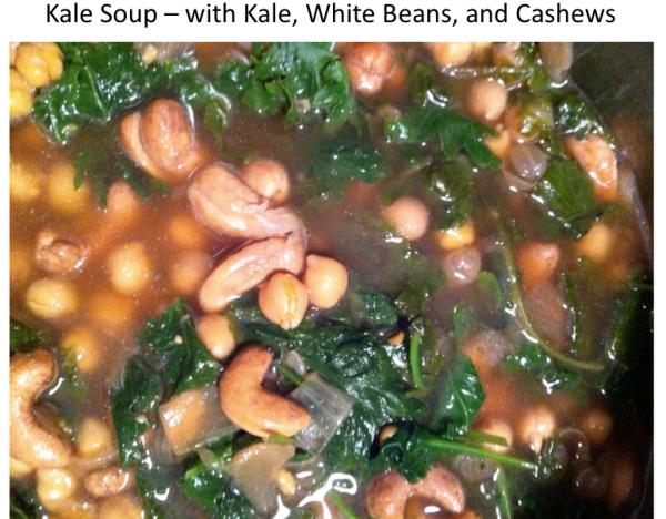 Kale Soup - Close up