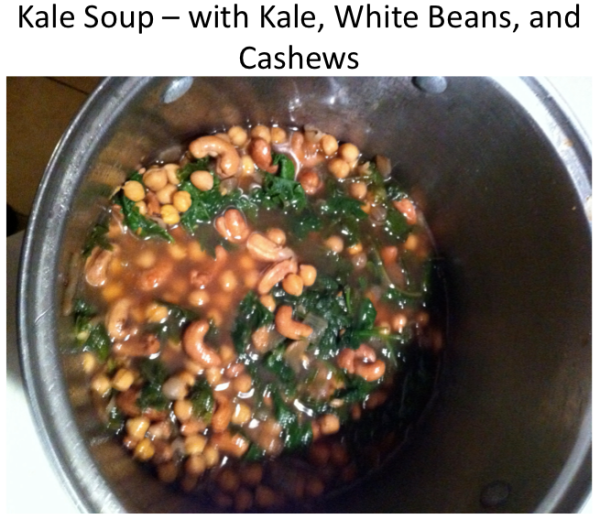 Kale Soup in Pot