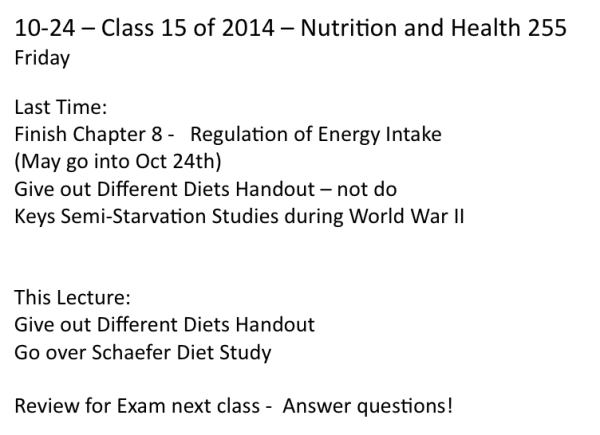 10-24 Class - Friday before exam
