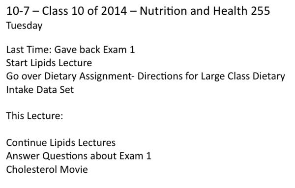 Class on 10-7-2014
