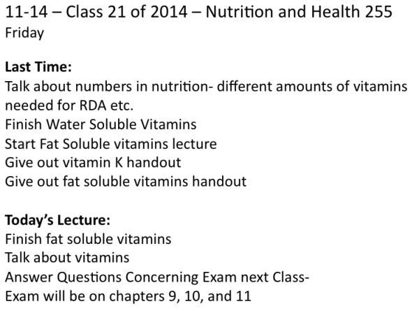 Class on 11-14-2014
