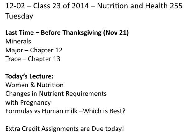 Class on 12-2-2014