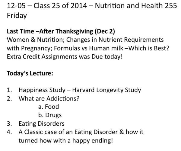 Class on 12-5-2014