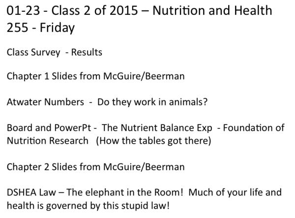 2nd Class - Jan 23 2015