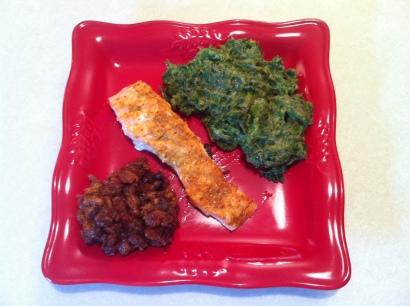 Salmon Kale Beans Sunday